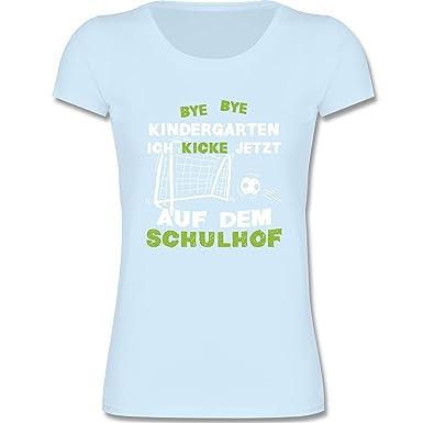 Shirtracer Einschulung Bye Bye Kindergarten Einschulung Fußball