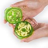 Ergonomic, No Mess Garlic Press with a Twist, Crusher and Mincer, Green