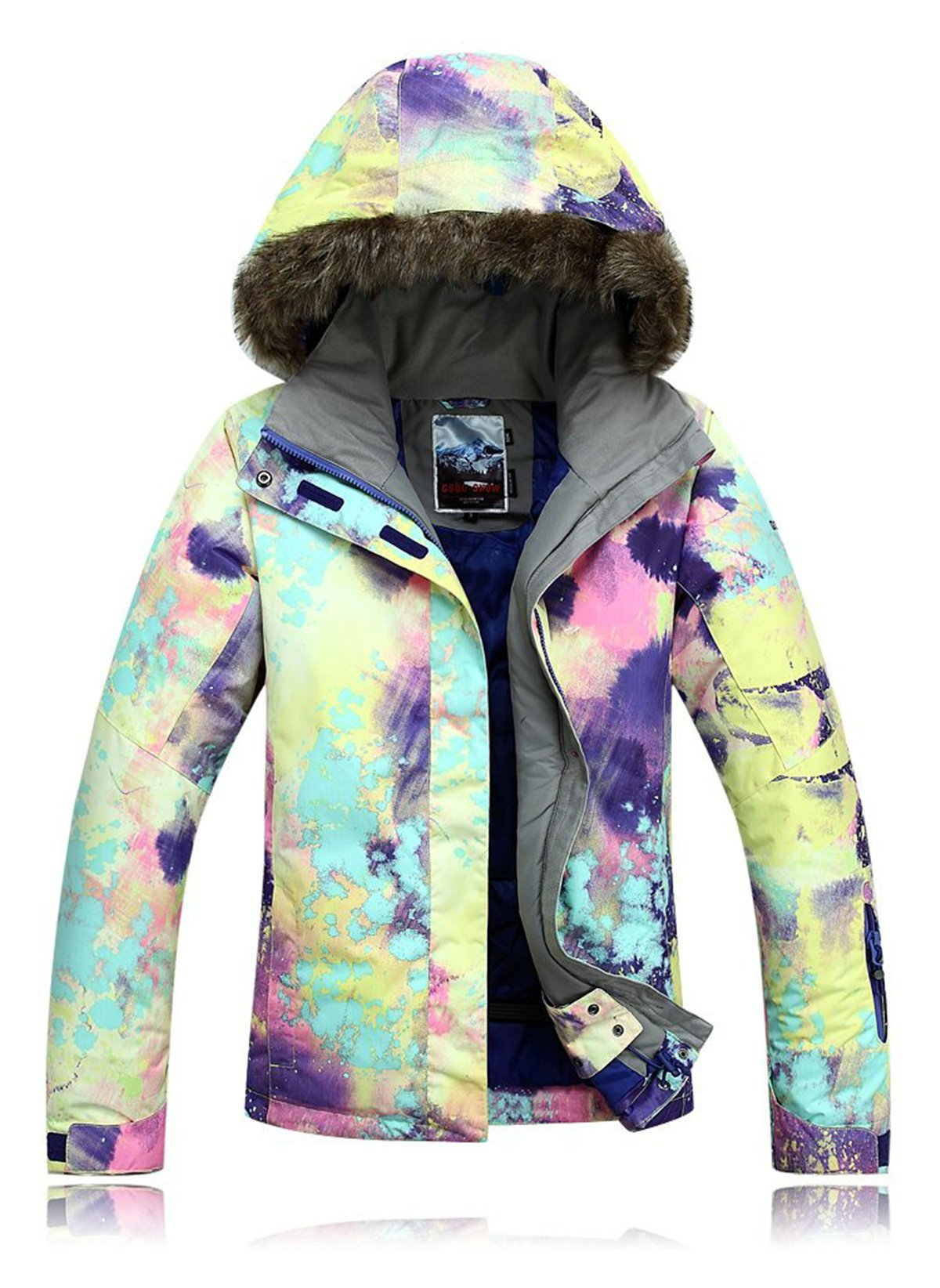 APTRO Women's High Windproof Technology Colorfull Printed Ski Jacket Style #21 Size M