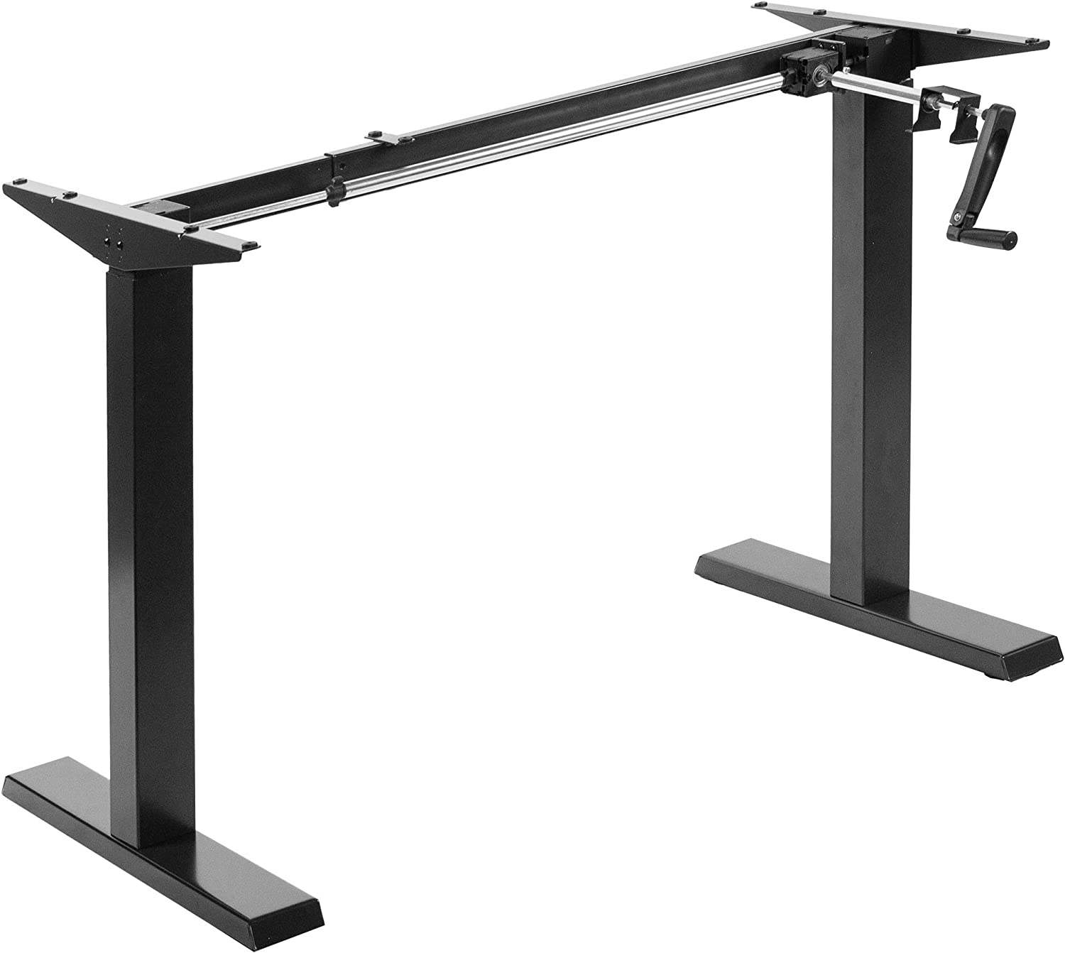 Crank Height Adjustable Desk Frame