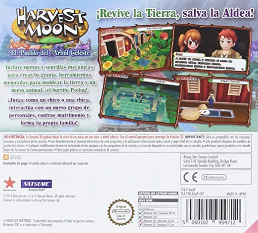 Harvest Moon: El Pueblo De Los Árboles Celestes: Amazon.es ...