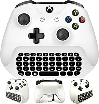 WHITEOAK Xbox One S Chatpad Mini Teclado inalámbrico para ...