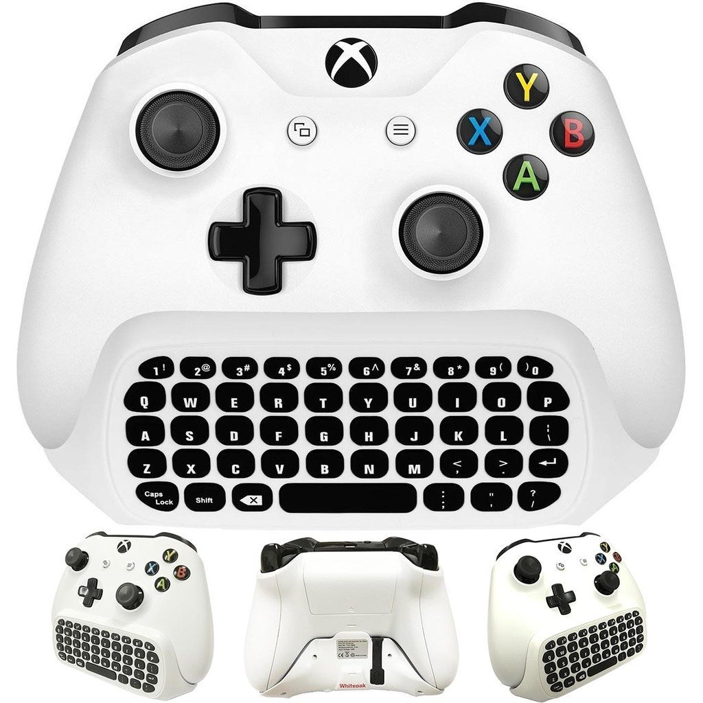 Whiteoak Xbox One S Chatpad Mini Gaming Keyboard Wireless Chat Message  KeyPad with Audio/Headset Jack for Xbox One Elite & Slim Game Controller