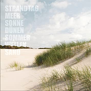 artissimo, Glasbild, 30x30cm, AG3331A, Strandtag II, Strand und Meer ...