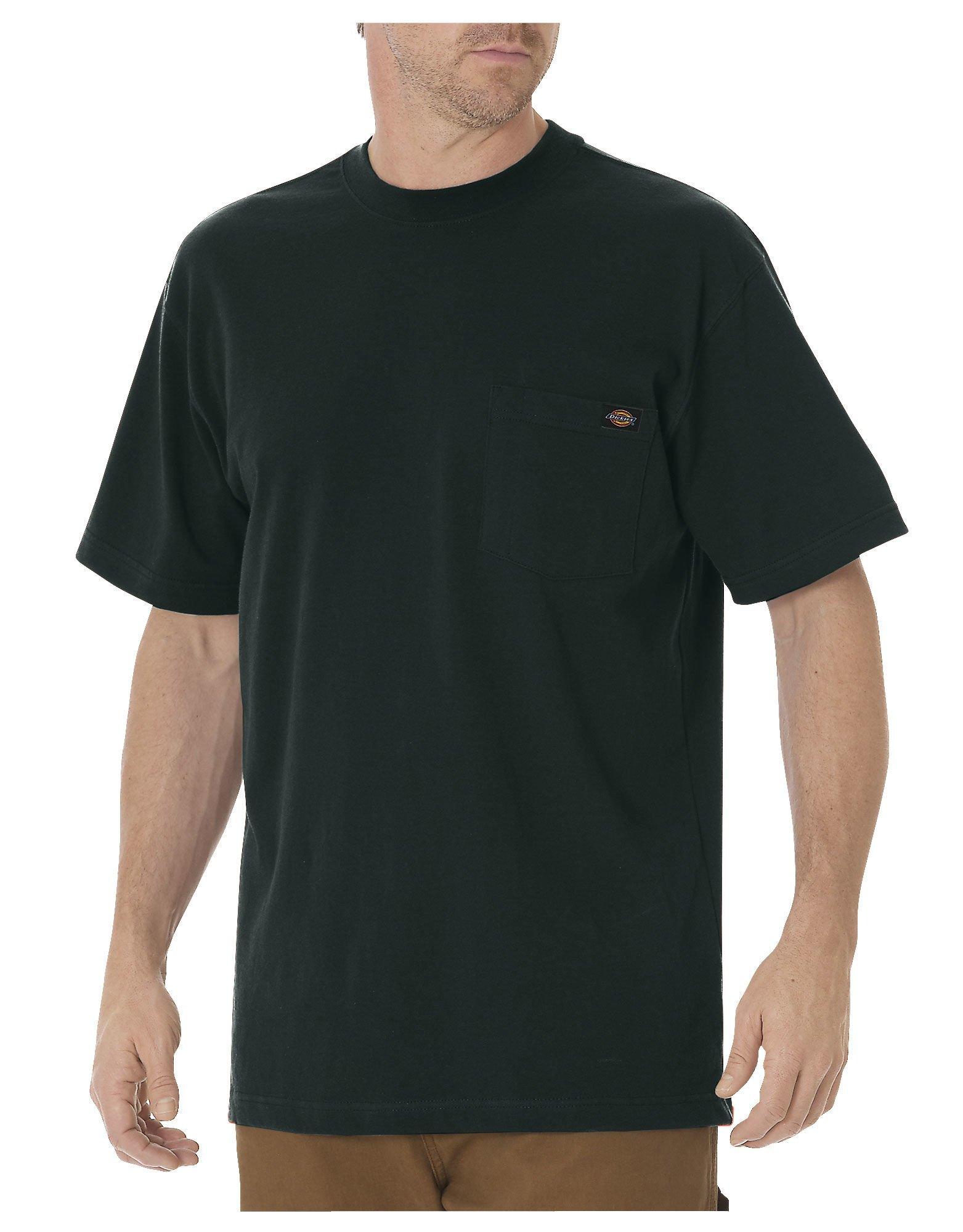 Dickies Men's Heavyweight Crew Neck Shirt, Hunter Green, S