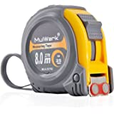 MulWark 27ft Measuring Tape Measure by Imperial Inch Metric Scale with Dual-side Metal Blade,Magnetic Tip Hook and Shock Absorbent Case-for Construction,Contractor,Carpenter,Architect,Woodworking