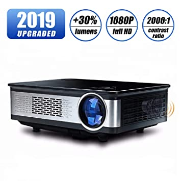 Home Theater Projector, HDEYE Native 1080p Full HD LED Video