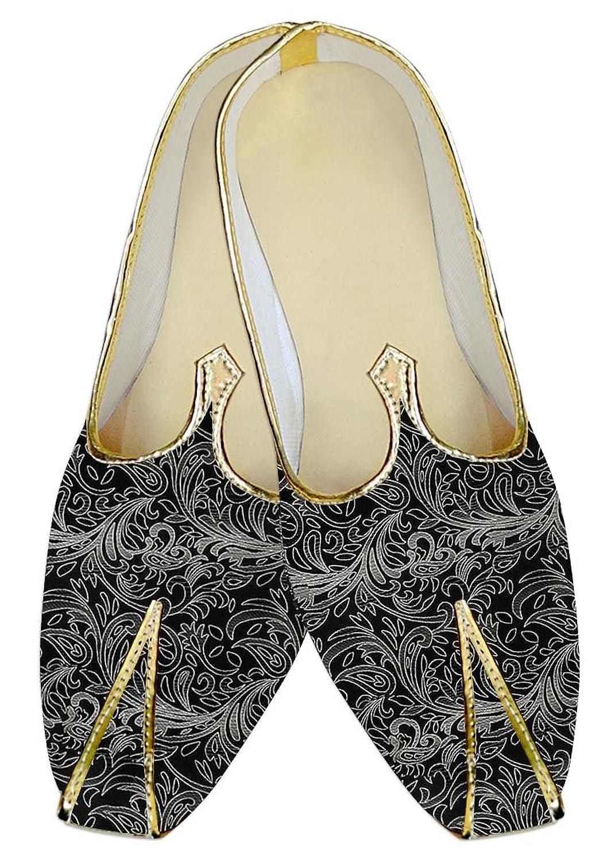 INMONARCH Hombres Boda Zapatos Negro Patrón Floral MJ011203 39 EU