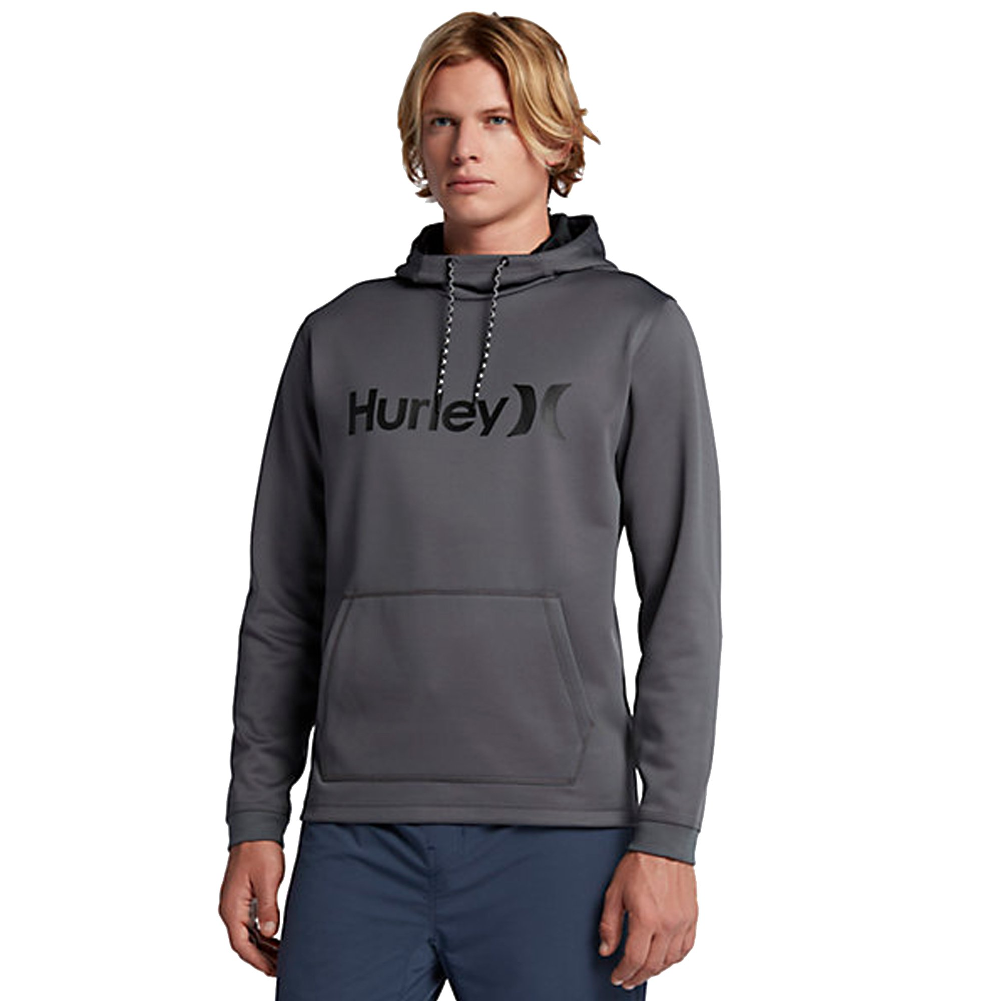 Hurley Men's Therma Protect Pullover Fleece, Dark Grey, Small