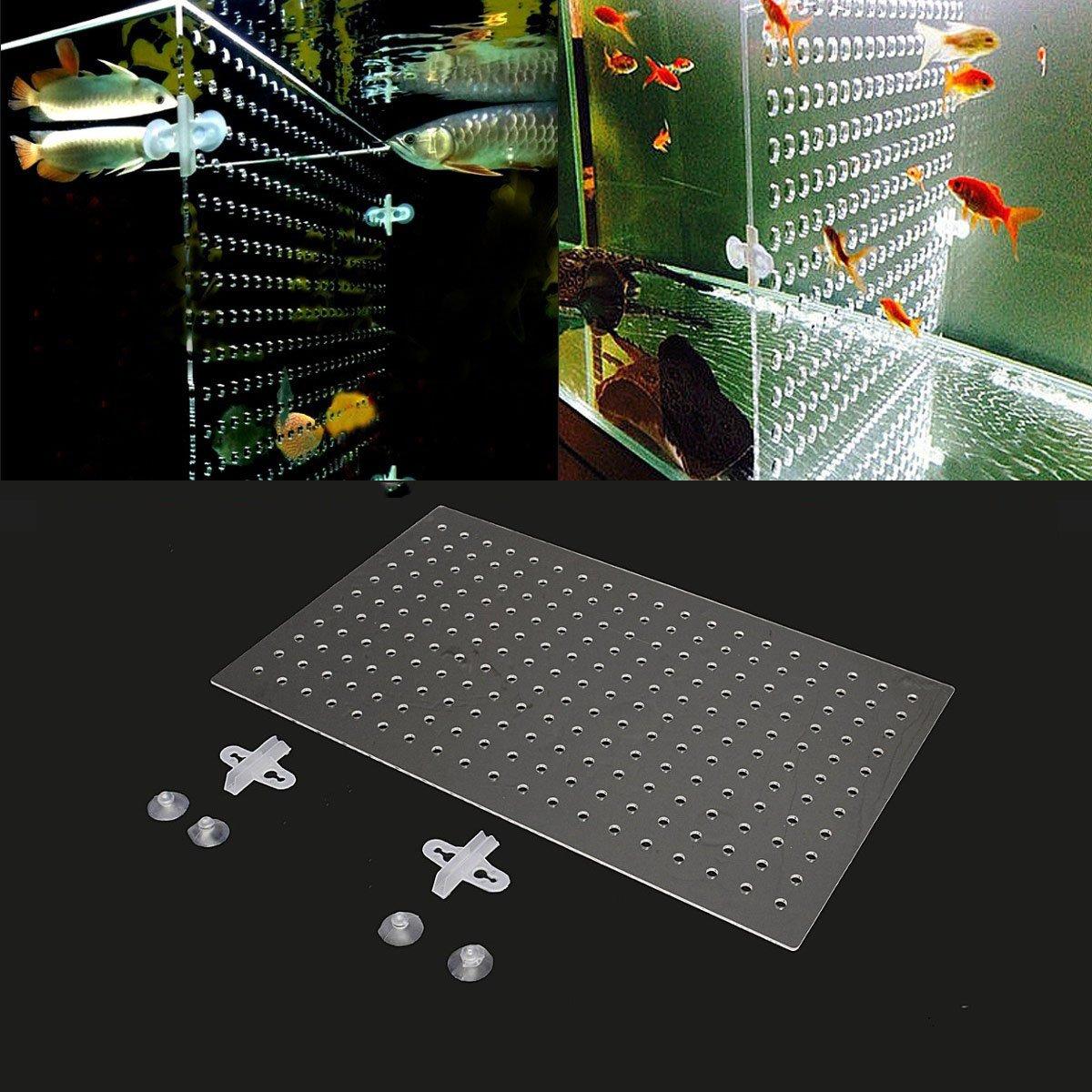 EsportsMJJ 19x11 8 Aquarium 3mm Acrylic Divider With Holes