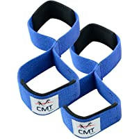Figure 8 Neoprene Weight Lifting Training Gym Straps Hand Bar Grip Gloves Support Workout