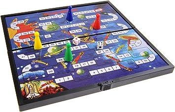 Quantum Abacus Juego de Mesa magnético (tamaño Compacto de Viaje): Aventura en el Espacio - Piezas magnéticas, Tablero Plegable, 19cm x 19cm x 1cm, Mod. SC6606 (DE): Amazon.es: Juguetes y juegos