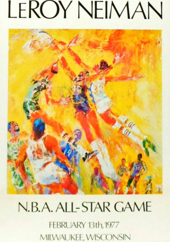 Amazon.com: Leroy Neiman NBA All Star Game on February 13, 1977 In ...