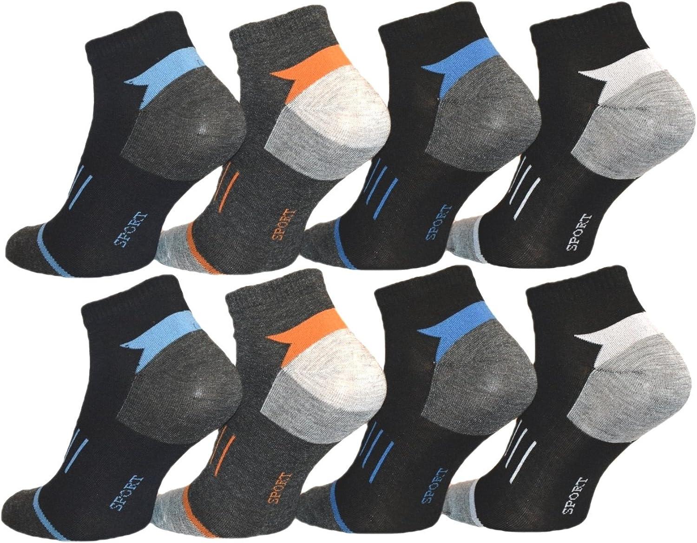 10 Paar Herren Sport Socken 90/% Baumwolle farbig 39//42