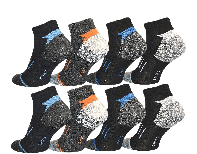 12 Paar Herren Sport Sneaker Socken Füßlinge Baumwolle 39-42 ; 43-46 - BestSale247