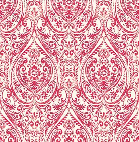 (A-Street Prints 1014-001865 Gypsy Damask Wallpaper, Red)