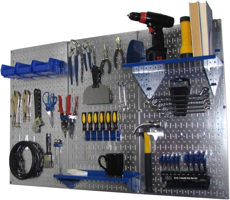 Wall Control Pegboard Standard Tool Storage Kit Galvanized