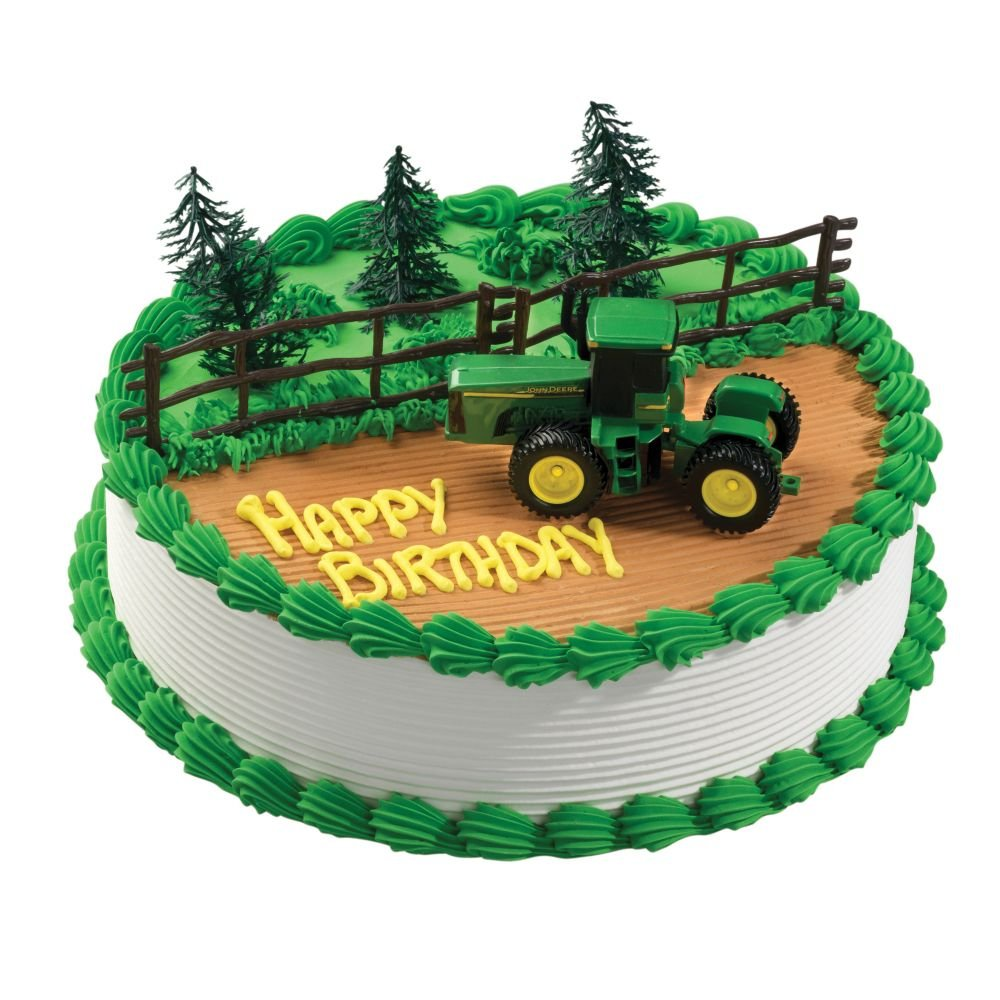 Surprising Amazon Com John Deere Party Cake Decoration Kit Tractor Style Funny Birthday Cards Online Fluifree Goldxyz