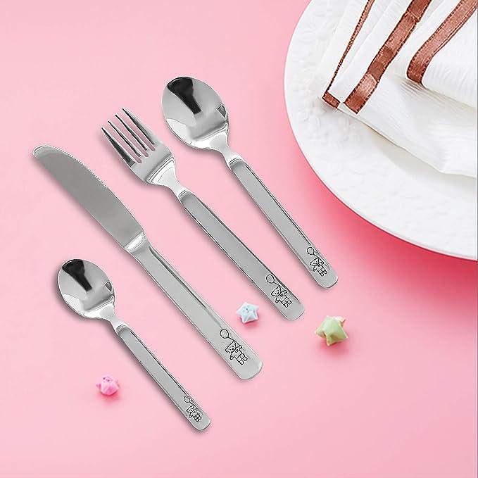 Amazon.com: Juego de cubiertos de 20 piezas con tenedores ...