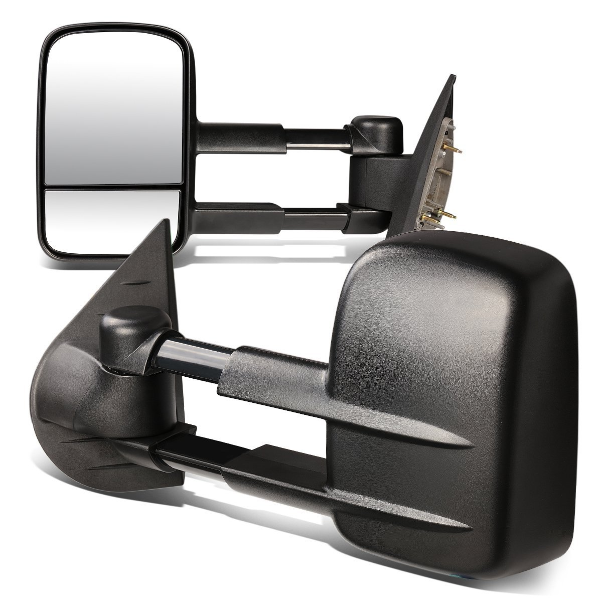 DNA Motoring TWM-003-T222-BK Pair of Towing Side Mirrors Driver /& Passenger Sides