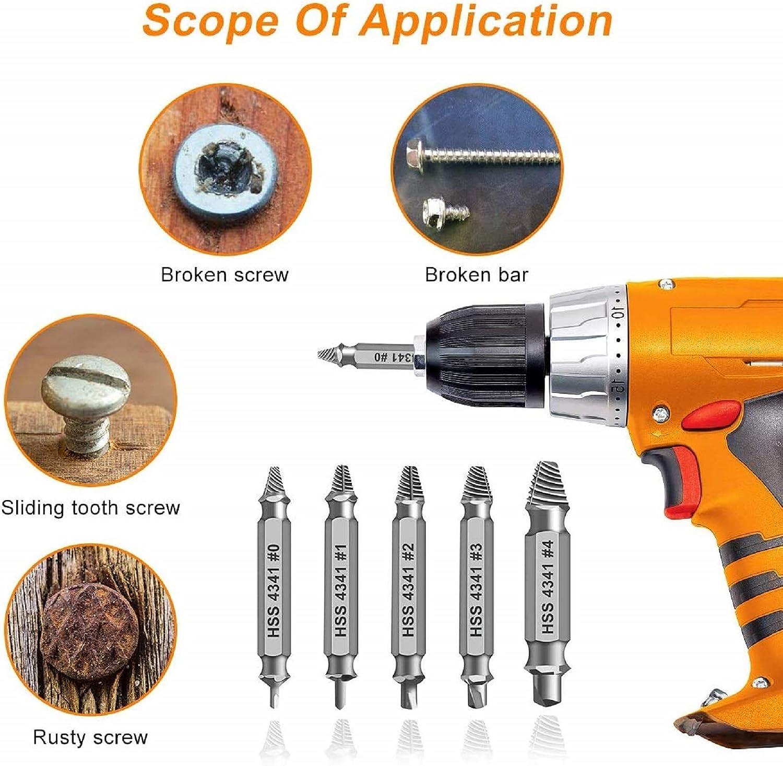 Screw Extractor 4 Pcs//5pcs//6pcs
