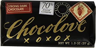 product image for Chocolove Strong Dark Chocolate Mini Bar, 1.3-Ounces (Pack of 12)
