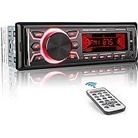 MEKUULA Autoradio mit Bluetooth Freisprecheinrichtung, 60W x 4 Single Din Universal Autoradio FM Empfänger Eingebautes Mikrofon, Universal MP3 Player Unterstützung USB/TF/AUX/WMA/WAV + Fernbedienung