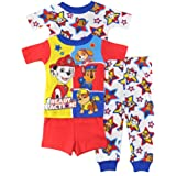 Nickelodeon Boys' Paw Patrol 4-Piece Cotton Pajama Set
