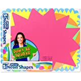 """ArtSkills 11"""" x 14"""" Poster Boards Shapes School Project Supplies, Neon, 5 Pack"""