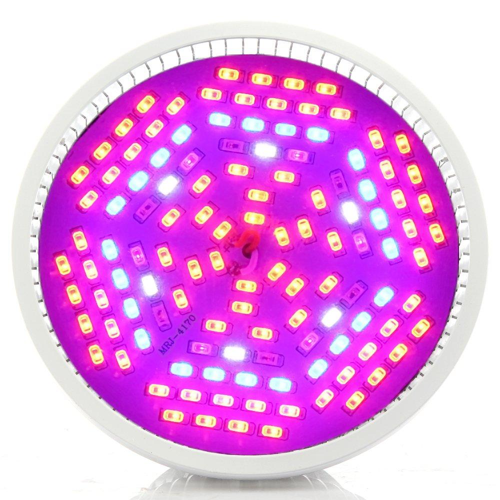 JADIDIS ,80W Led Grow Light ,Grow Lamp E27 For Room Plants Hydroponic System Grow Tent (With Glass Lense Cover)