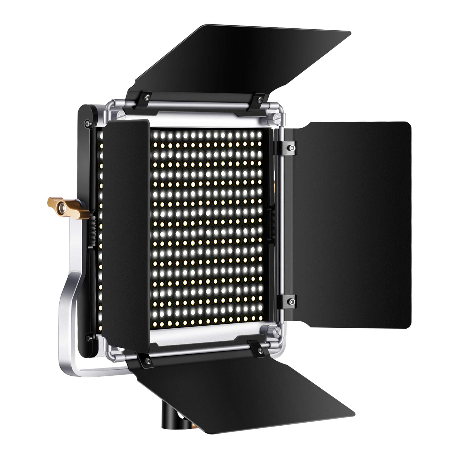 Neewer Dimmable Bi-Color 500 LED Video Light with Barndoor,U Bracket and Carry Bag for Studio,YouTube Outdoor Video Photography,Durable Metal Frame/3200-5600K/CRI 96+/Upgraded Cooling Design(Silver) by Neewer