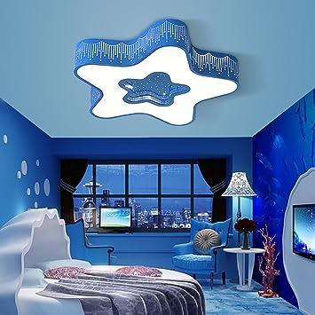 Style Home 48W LED Deckenlampe Volldimmbar Mit Fernbedienung Stern Mesmerizing Blue Interior Design Model