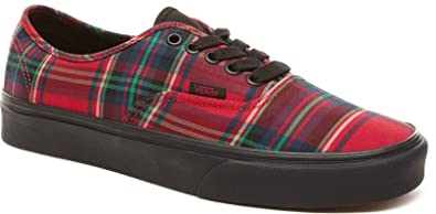 f959d9855b Image Unavailable. Image not available for. Colour   Vans Authentic Plaid  Mix Red Black Mens Skate Trainers