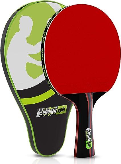 Amazon.com: mightyspin Pro ping pong paddle – Raqueta de ...