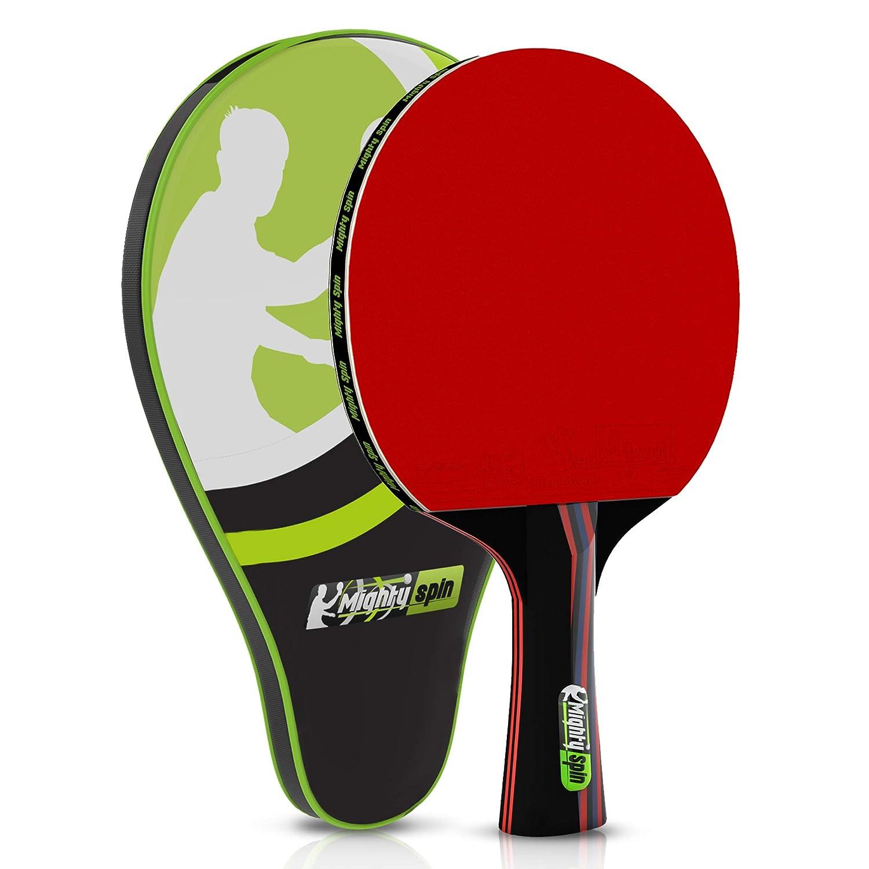 MightySpin Tornado Pro カーボンパドル - プロレベルの卓球ラケット ITTF 2.1 mmゴム付き - スピンスピンドピンピンピンピンピンピンポンパドル - SureSpeed ラケットテクノロジー B07HRLXSQ7  トルネードカーボン