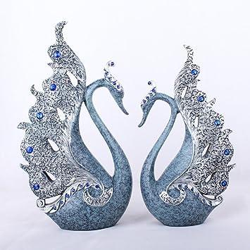 Fantastisch Mayanyan Europäische Liebhaber Blauen Schwan Harz Ornamente Wohnzimmer  Schränke Home Dekoration Handwerk Kreative Geschenke