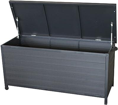 Jardín Box Box baúl Jardín Box para silla Cojín Cojín cojines Juguetes Muebles etc. Rollbar polywood metal 133 x 54, 5 x 63, 5 cm Incluye Hub automático: Amazon.es: Jardín