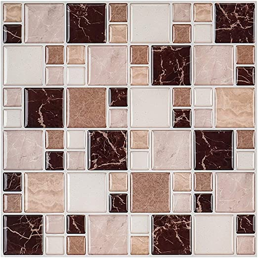 Amazon Com Morcart Mosaic Tiles Peel And Stick Wall Tile For Kitchen Living Room Bathroom Laundry Room Backsplashes 10 X10 10 Pack Home Kitchen