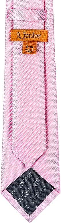 Retreez Corbata tejida para niño con textura de rayas – 8 – 10 ...