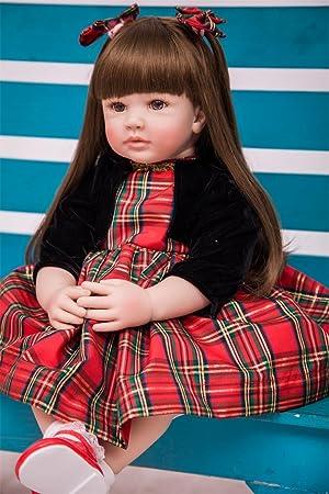Pursue Baby 24 Pulgadas Cuerpo Suave Realista Muñeca Princesa Valentina para la Navidad