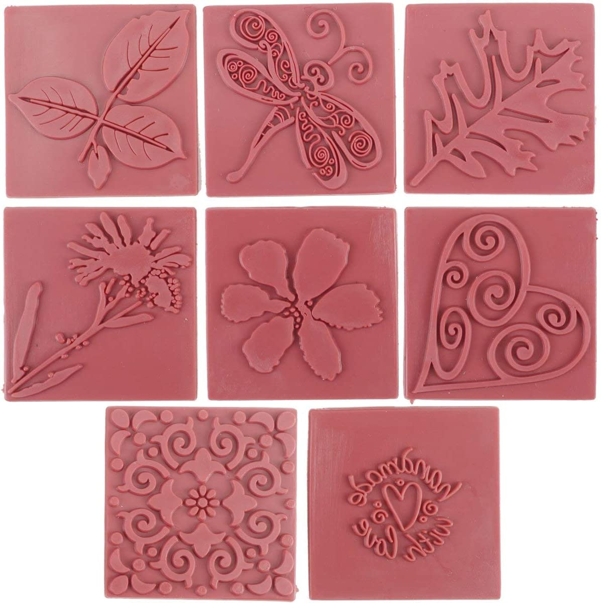 Life of the Party SP61501 8-Pack Soap Embossing Stamp, Square