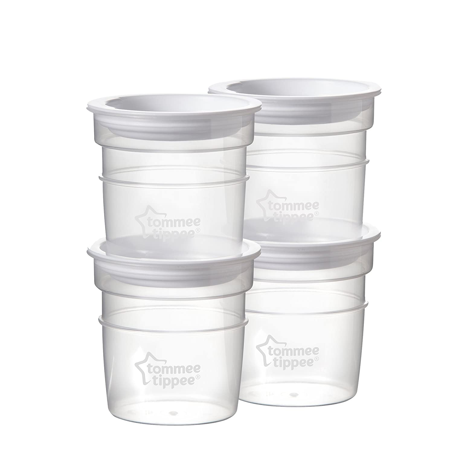 Tommee Tippee Closer To Nature Milk Storage Pots x4 42301071