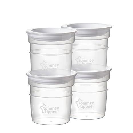 Tommee Tippee Closer to Nature - Recipientes para conservar la leche, 4 unidades