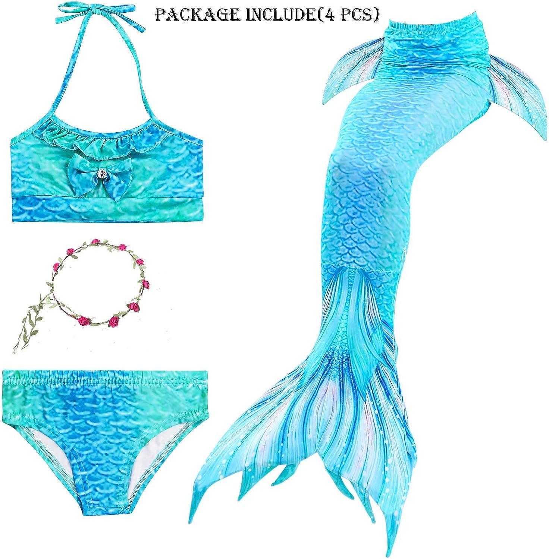 Mermaid Swimmable Mermaid Tail Blue Swimwear Women Skirt Beach Pool Party Dress