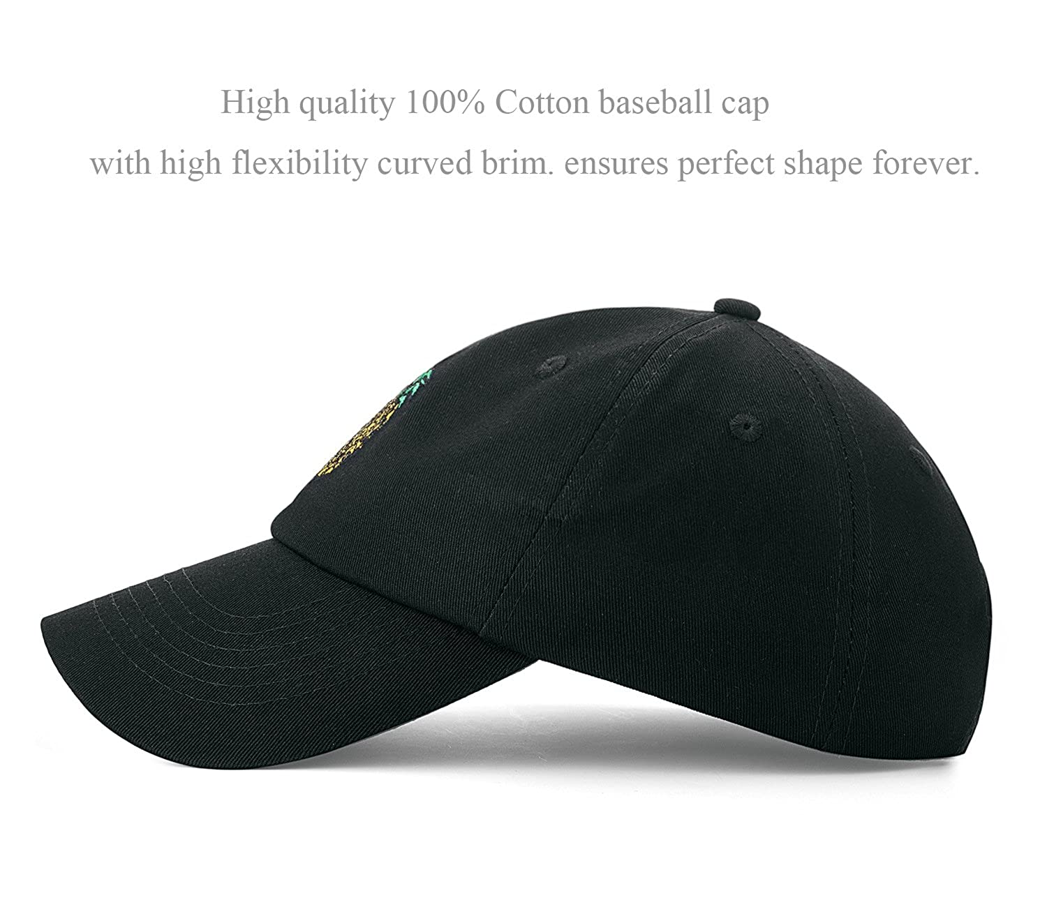 Amazon.com  IZUS Dad Hat Black Baseball Cap Embroidery Polo  Clothing de9fafd31ce5