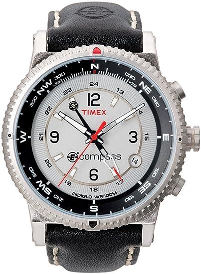 e0f88ad00d14 Timex de los hombres t49551 Expedition e-compass piel Reloj  Timex ...