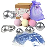 Sparklelife Metal Bath Molds Homemade Round Bombs, With 100 pack Shrink Wrap Bags