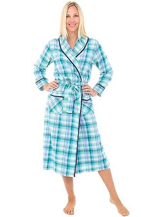 130434248937 Alexander Del Rossa Womens Flannel Robe