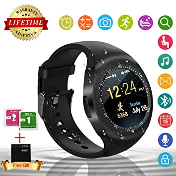 Montre Connectée Smartwatch Bluetooth Smart Watch Montre Connectée Etanche Sport Femme Homme Enfant Fitness Tracker Pédomètre