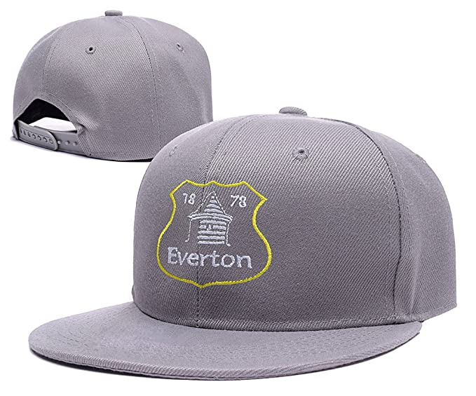 c37cbe9a6b1 ZZZB Everton Football Club FC Logo Adjustable Snapback Caps Embroidery Hats  - Grey